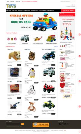 Online Toys - E-commerce Website